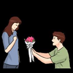 The Flower of Love : Sachet Sticker
