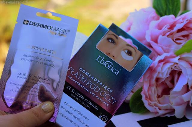 L'biotica – Maseczka naprawcza na noc – Dermomask Night Active Biostymulacja + Odmładzające płatki pod oczy – czyli jak zregenerować porządnie cerę