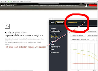 add site to yandex