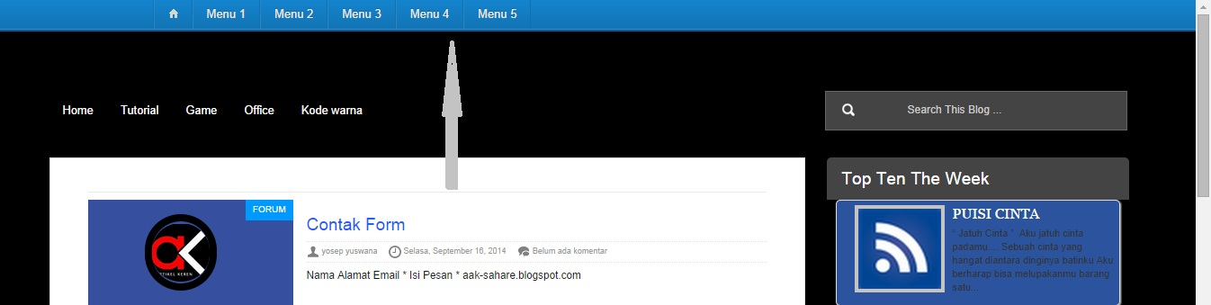 Cara Membuat Floating Menu/Fixed Menu di Blog