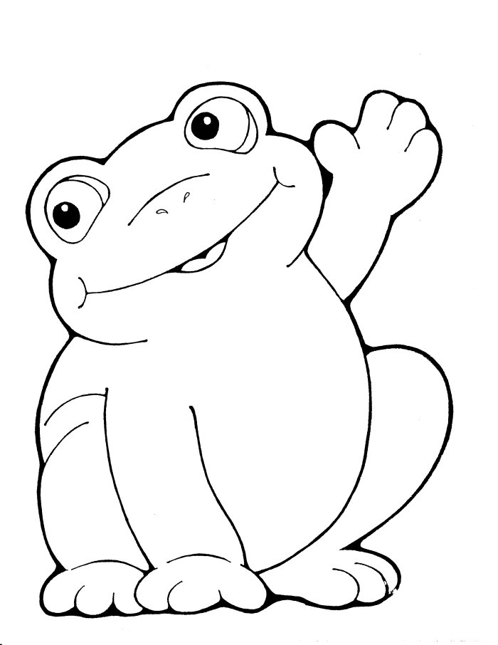 Coloring Pages for Kids: Frog Coloring Pages