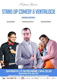 Stand-Up Comedy Sambata 19 Noiembrie Bucuresti
