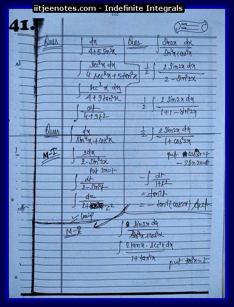 indefinite integrals cbse4