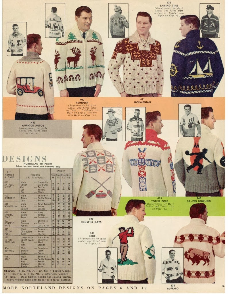 RIVETED: MARY MAXIM SWEATERS    THE CLASSIC COWICHAN STYLE