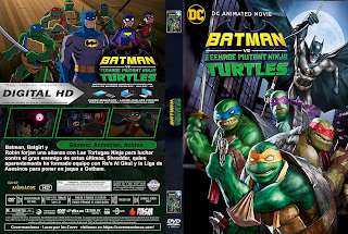 BATMAN VS LAS TORTUGAS NINJAS - BATMAN VS TEENAGE MUTANT NINJA TURTLES -2019 [COVER DVD+BLU-RAY]