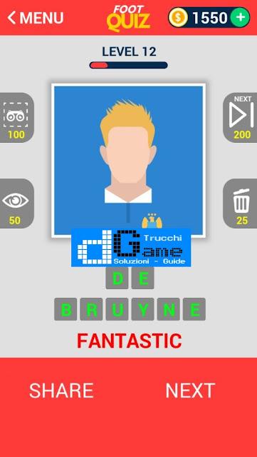 FootQuiz Calcio Quiz Football ( VISO) soluzione livello 11-20