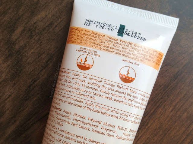 Himalaya Herbals Tan Removal Orange Peel Off Mask Price and Ingredients