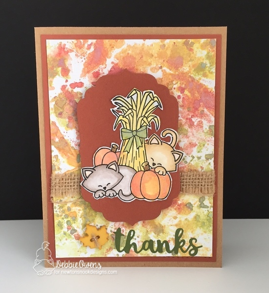 Thanks by Debbie features Autumn Newton by Newton's Nook Designs; #newtonsnook