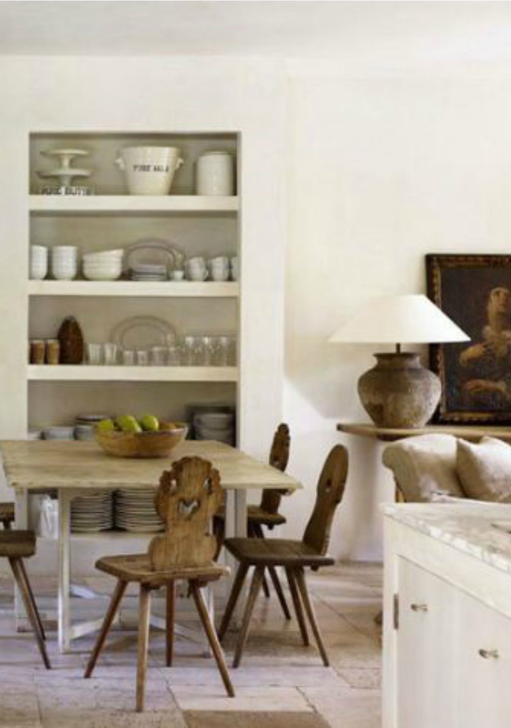 Gorgeous French farmhouse style kitchen of Pamela Pierce on Hello Lovely Studio