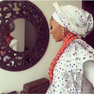 Oritsefemi and Nabila Fash's traditional wedding photos