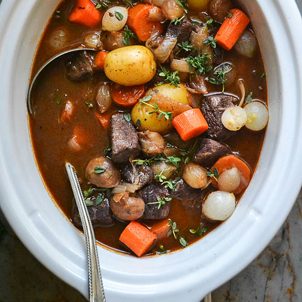 Slow Cooker Beef Bourguignon by The View From Great Island