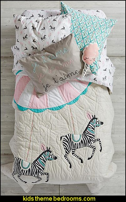 Carousel Horse Twin Bedding