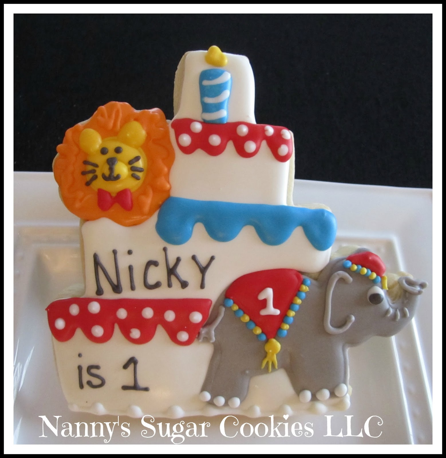 Nannys Sugar Cookies LLC A Circus Theme Birthday Party