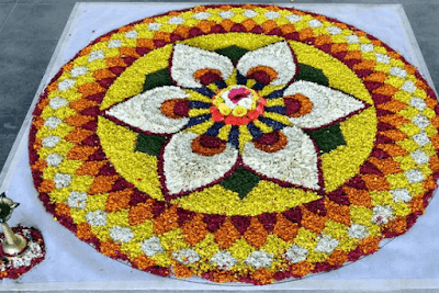 Onam Pookalam Small Designs