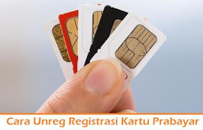 Cara Unreg Registrasi Kartu Prabayar (Termudah.com)