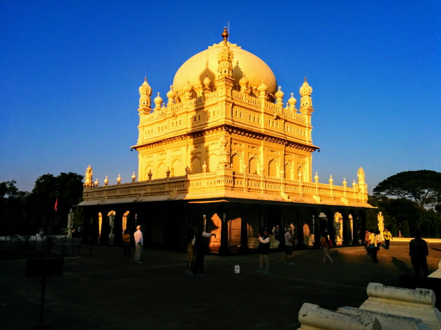 Srirangapatna Gumbaz shining in the setting sun