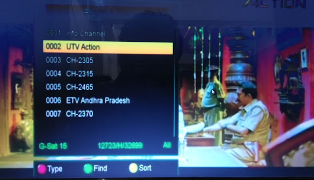 Six Channel temp. Free-to-air  from Reliance Big TV