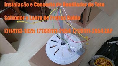 Ventilador de Teto Com Barulho Consertamos em Salvador-Ba