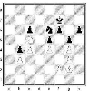 Posición de la partida de ajedrez Manuel Rivas - Jordi Magem (Dos Hermanas, 1993)