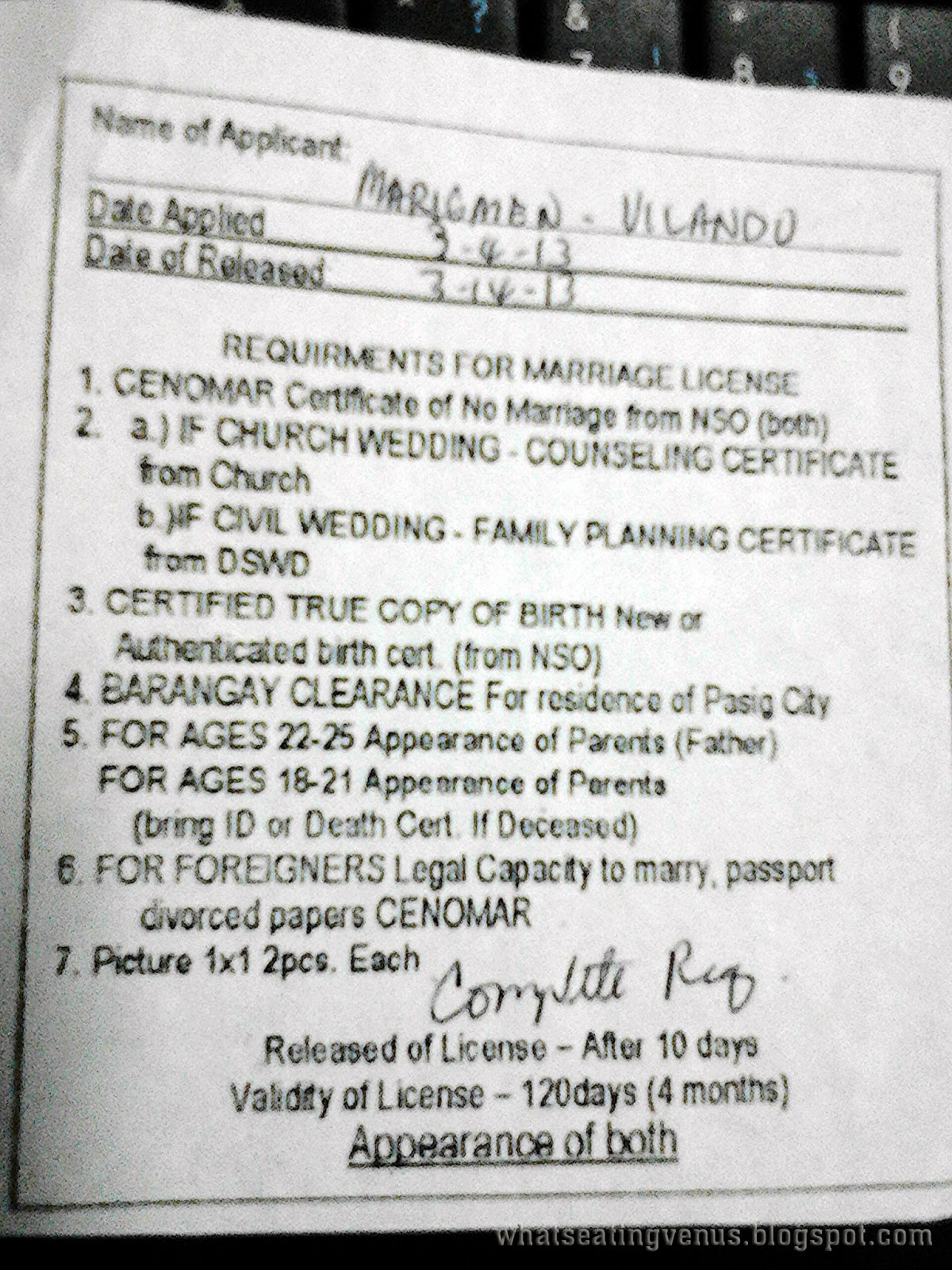 Marriage License Requirements Civil