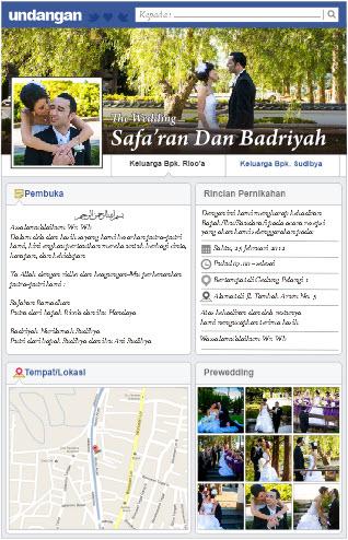 Membuat Undangan Pernikahan Bertema Facebook Eins Design Creative