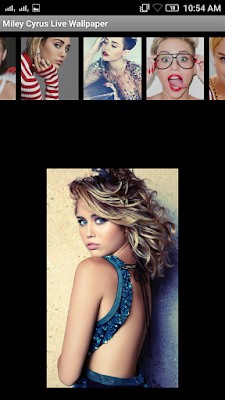 Miley Cyrus 3D live Wallpaper For Android Mobile Phone