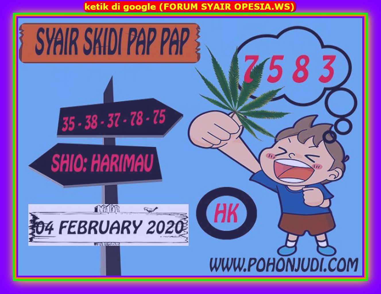Kode syair Hongkong Selasa 4 Februari 2020 201