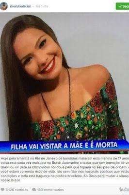 Rivaldo aconselha turistas a não virem para Rio-2016 por causa da violência