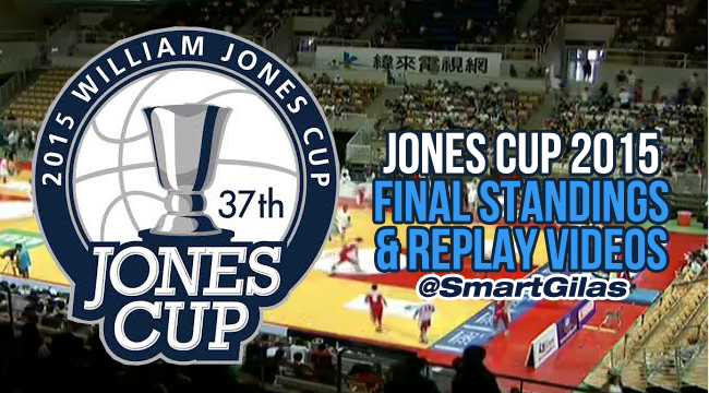 Jones Cup 2015 Final Standings, Awards & Replay Videos / Gilas Pilipinas 3.0