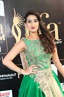 Manjusha in Beautiful Sleeveless Green Anarkali dress at IIFA Utsavam Awards 100.JPG
