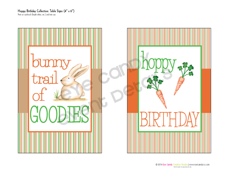 bunny trail, easter birthday, striped invite, birthday invite, easter illustrations