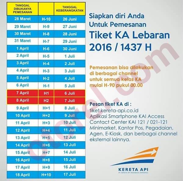 Jadwal Pesan dan Beli Tiket Kereta Api Lebaran 2016