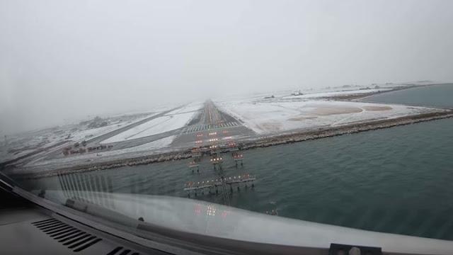 Η προσγείωση στο  χιονισμένο αεροδρόμιο «Μακεδονία» μέσα από το κόκπιτ αεροπλάνου (βίντεο)