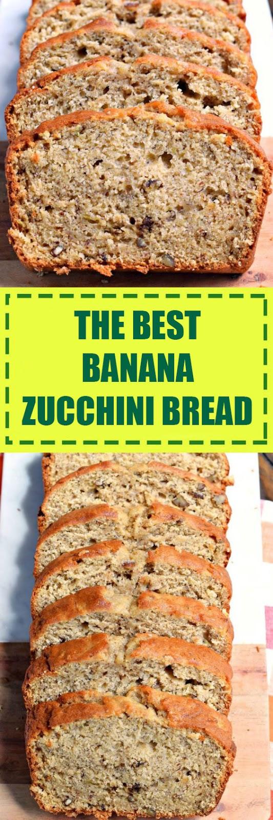 The Best Banana Zucchini Bread