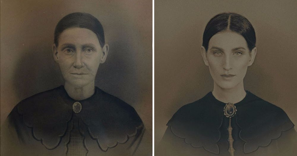 Photographer Recreates Old Portraits of Her Female Ancestors, Spanning 200 Years, And It's Very Cool