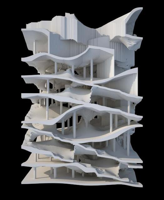 建築は模型も面白い。想像力溢れるクリエイティブな模型。9つ【Architecture】 3Dプリンターを使い作成した模型