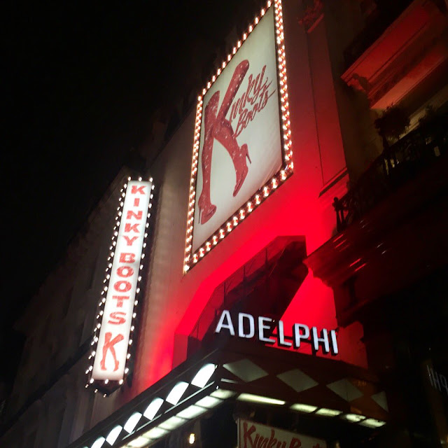 Kinky Boots - outside the Adelphi theatre