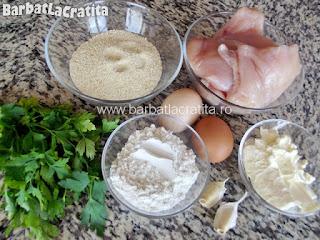 Pui Kiev (snitel piept) ingrediente reteta
