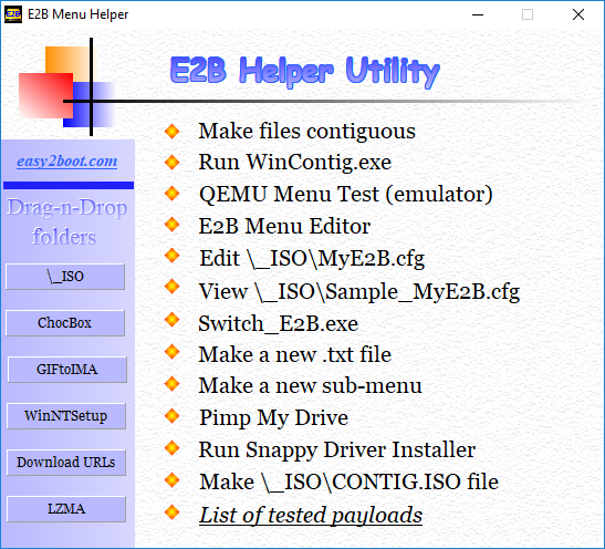 RMPrepUSB, Easy2Boot and USB booting: Make your own E2B 'Launcher