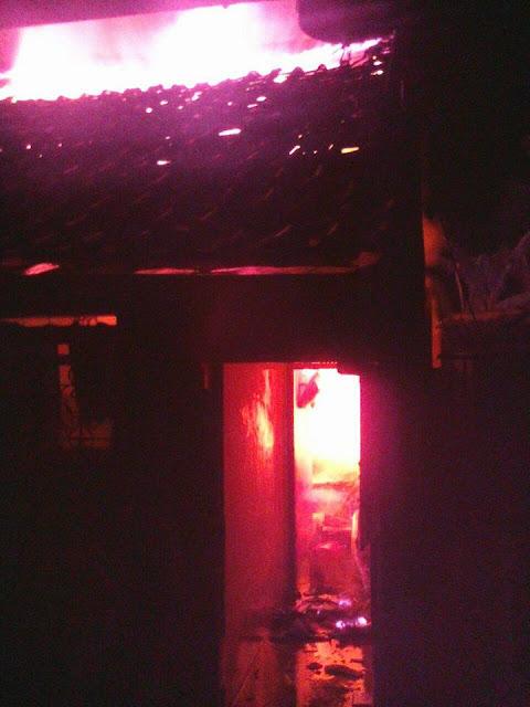 Keadaan saat terjadi kebakaran