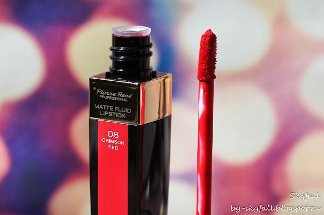 Pierre Rene Matte Fluid Lipstick 08 Crimson Red