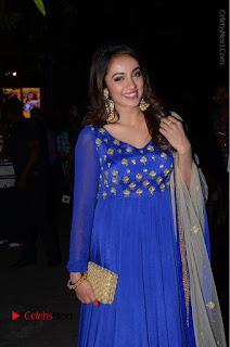 Telugu Actress Tejaswi Madivada Pos in Blue Long Dress at Nanna Nenu Na Boyfriends Audio Launch  0027.JPG