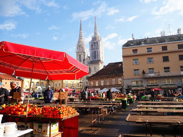 Il mercato di Dolac Zagabria