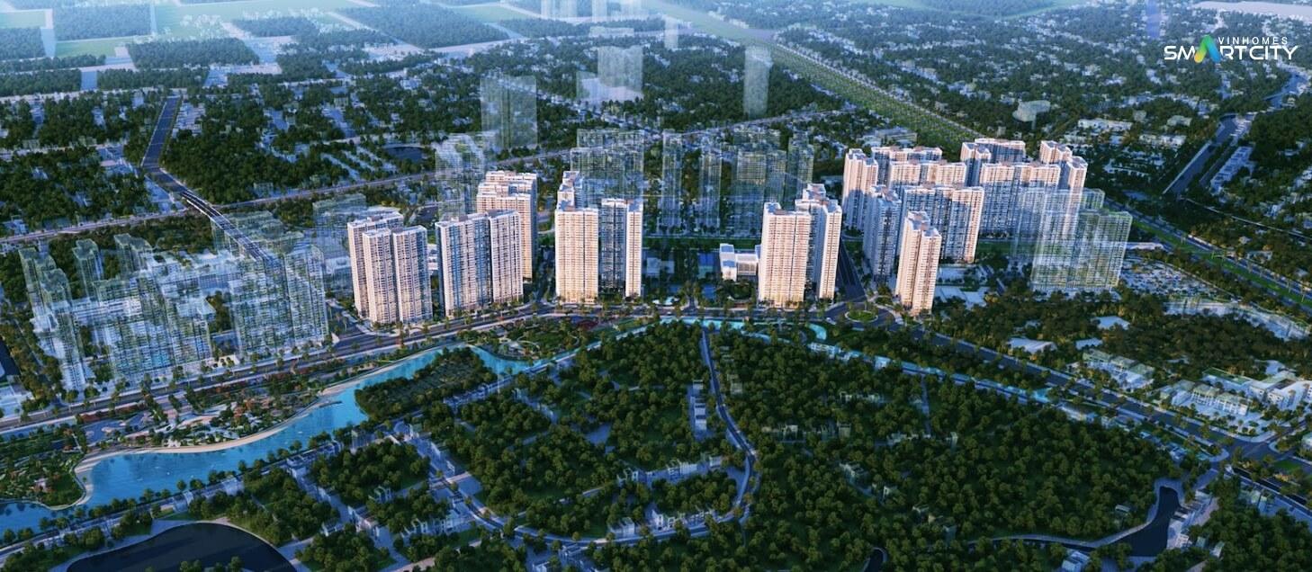 Phối cảnh khu đô thị Vinhomes Smart City
