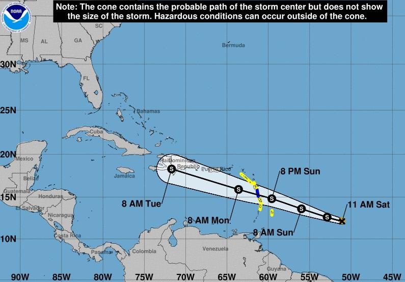 Huracán Beryl amenaza al Caribe