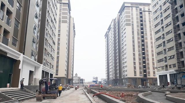 Khuôn viên giữa các tòa đang xây dựng 2