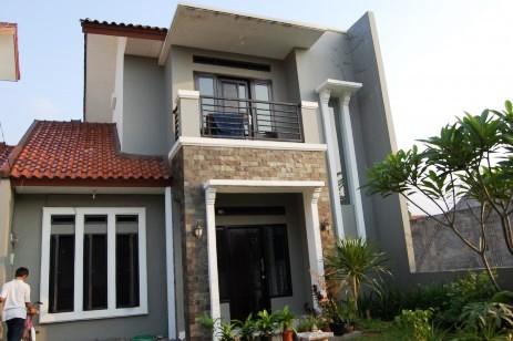 20+ model rumah mewah minimalis 2 lantai tampak depan