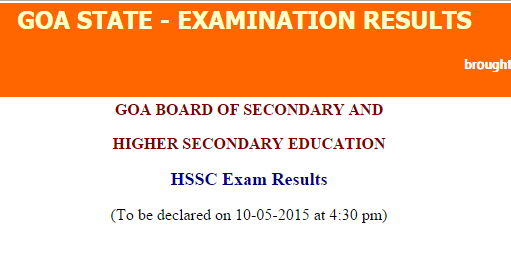 goa board results 2015