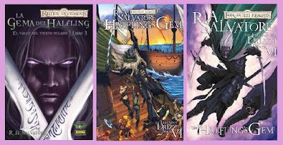 portadas de la novela gráfica La gema del halfling