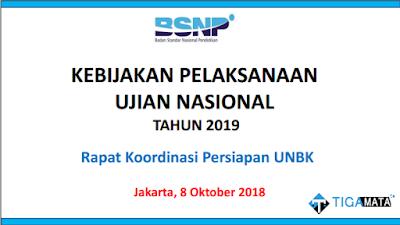 Inilah Kebijakan Ujian Nasional (UN/UNBK) Tahun 2019